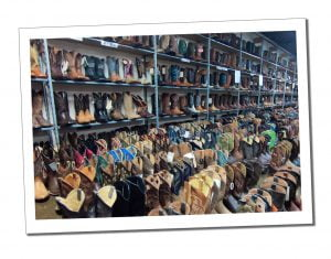 Hundreds of Cowboy Boots in a store, Nashville
