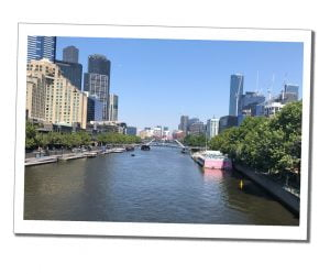 Short Travel Stories from the air - Melbourne's Yarra River