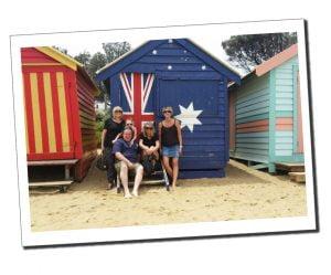 SWWW and family beach huts, Brighton beach, Melbourne