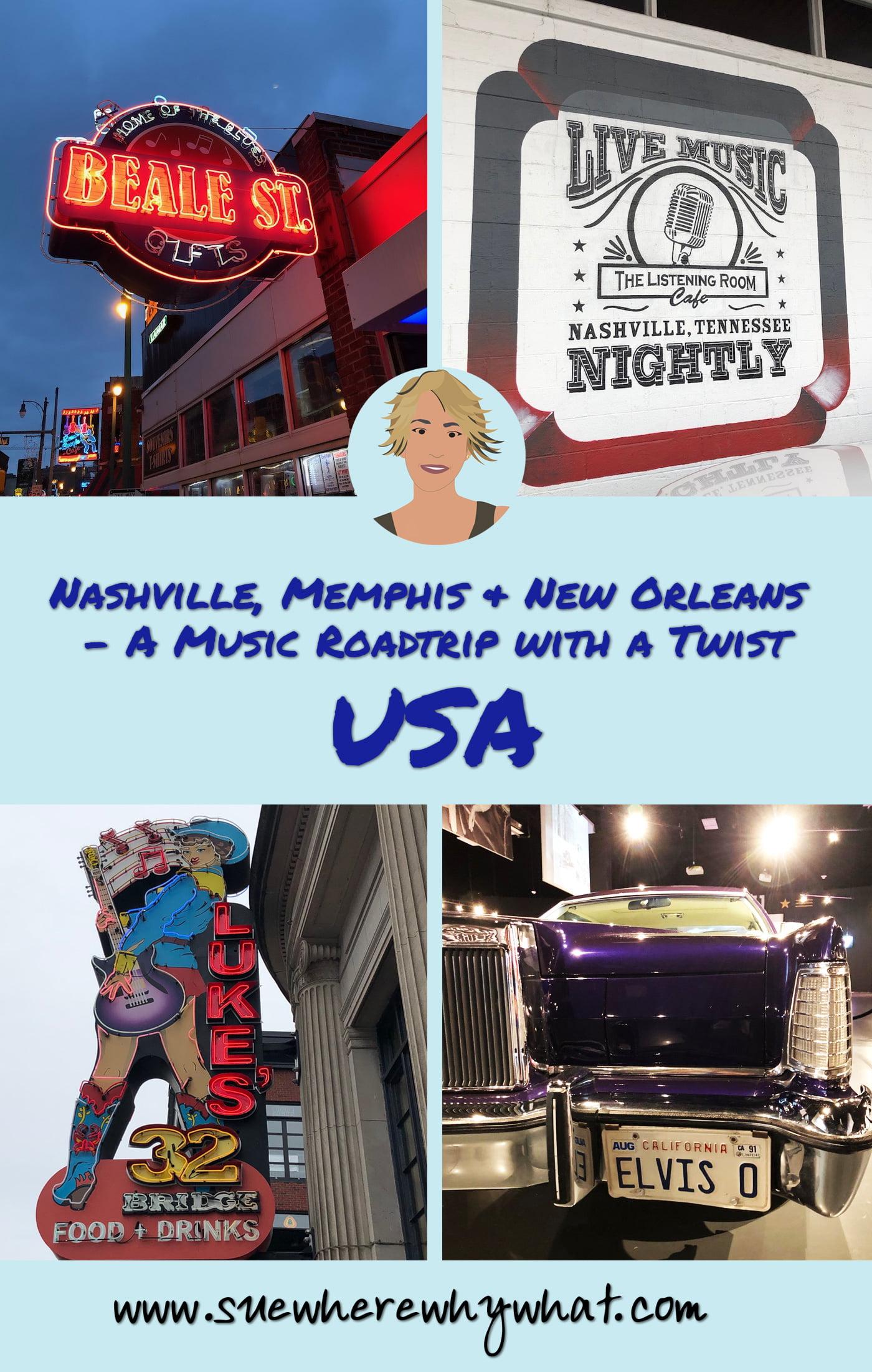 Nashville, Memphis & New Orleans – A Music Roadtrip with a Twist