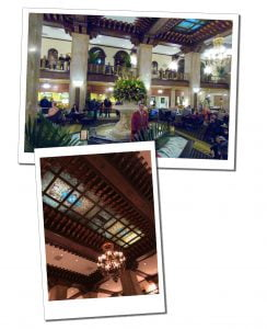 The foyer & duck master of the famous Peabody hotel, Memphis
