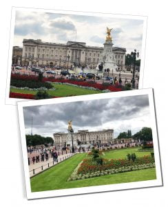 Views of Buckingham Palace, London