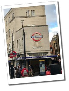Exterior of Leicester Square tube station, London