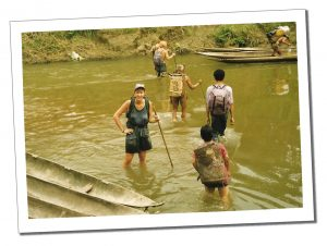 SWWW in the river, Indonesia, Siberut - Crazy Travel Stories