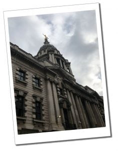 The Old Bailey criminal court, London