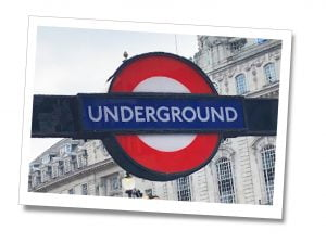 Underground sign, London