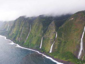 Green cliffs & Waterfalls, Hawaii