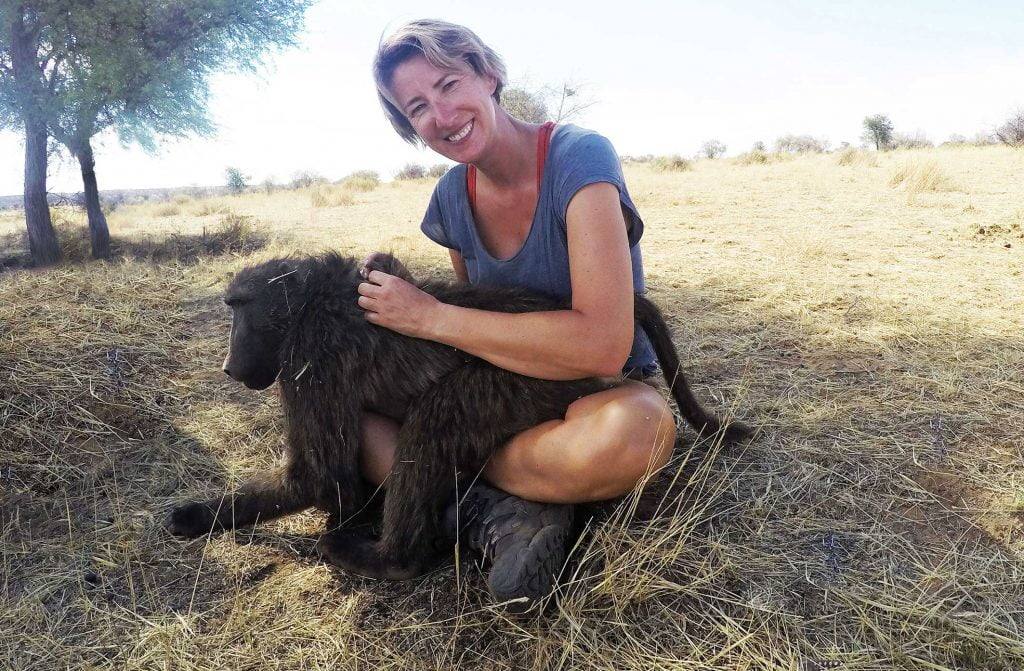 SWWW and a Baboon, Namibia