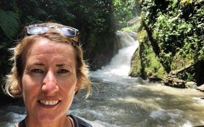 SueWhereWhyWhat Waterfall Hike, Ecuador