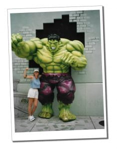 SWWW and the Hulk, Universal Studios, Orlando, Florida
