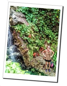 SWWW at the Secret Spa, by the waterfall, Dominica