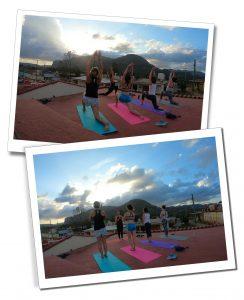 Roof top Yoga, Viñales