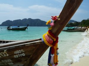 Boats on the beach at Koh Phi Phi, Thailand