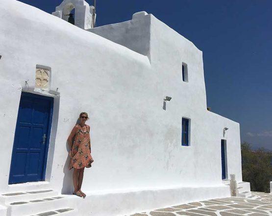 SWWW, outside a church, Milos Greece