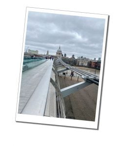 Millennium Bridge London - Top Tips to Travel Safely during COVID 19