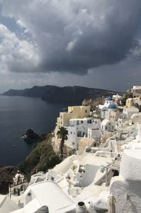 Santorini, Island Hopping in the Cyclades – The Perfect Greek Island Itinerary Quarter Pin