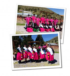 Team line ups in Traditional Costumes. An Amazing 2 Day Homestay in Lake Titicaca Uros Reed Island People Taquiles Island