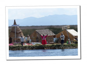 Local Inhabitants of a reed island Amazing 2 Day Homestay in Lake Titicaca