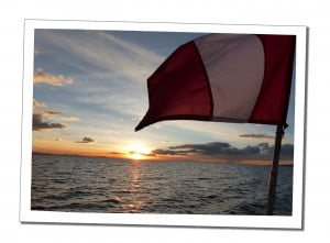 Peruvian Flag. An Amazing 2 Day Homestay in Lake Titicaca Uros Reed Island People Taquiles Island